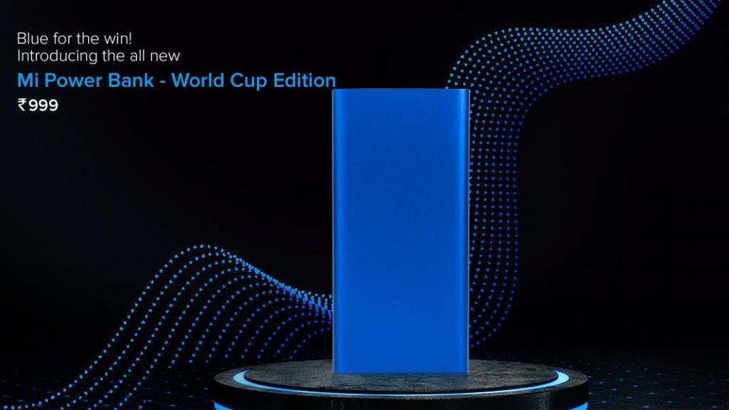World Cup edition on Mi Power bank