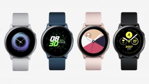 Design and color variations of Galaxy Watch Active