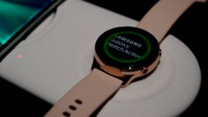 wireless charging of  Galaxy Watch Active