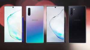 Samsung Galaxy Note 10 black and silver color