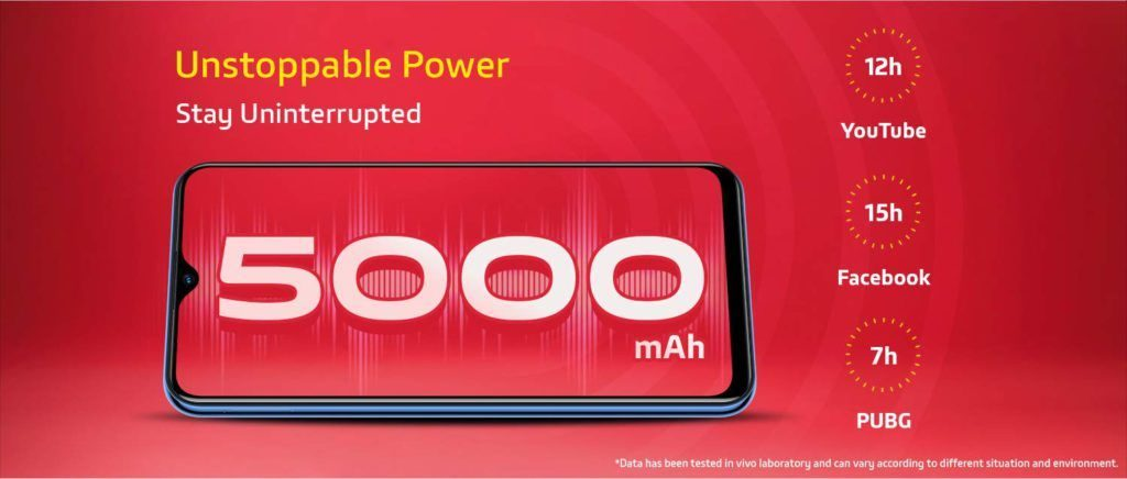 vivo u10 5000 mAh battery