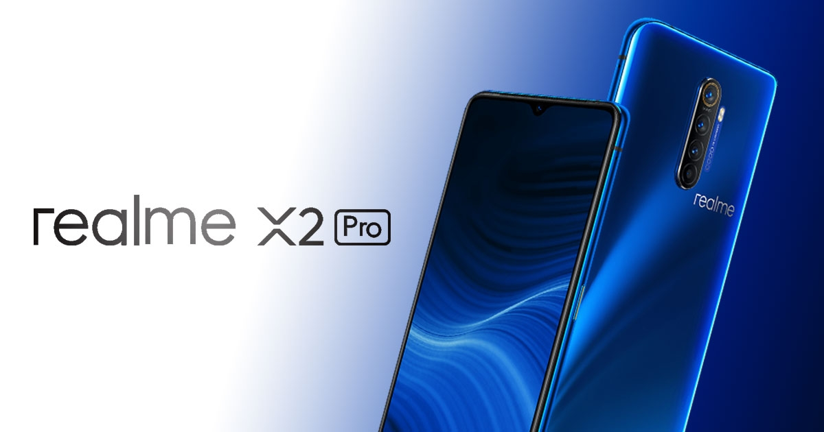 Realme smartphone with centre quad camera aligment