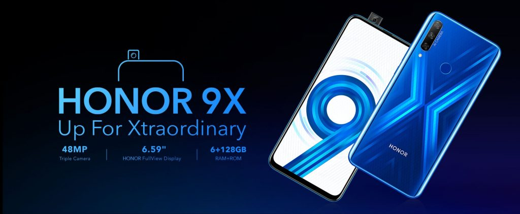 Honor 9X display and design