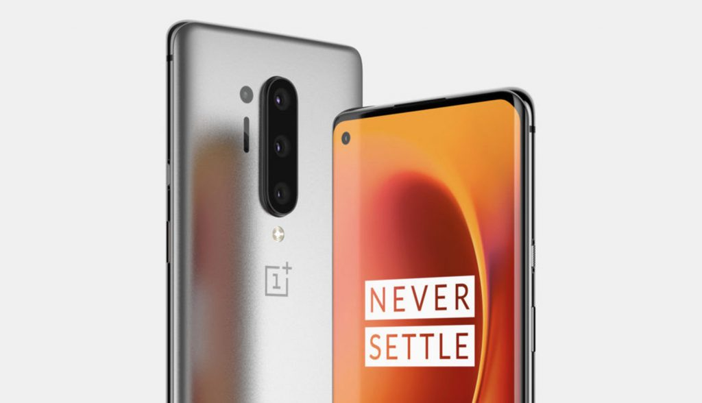 OnePlus 8 punch hole and vertical triple camera setup
