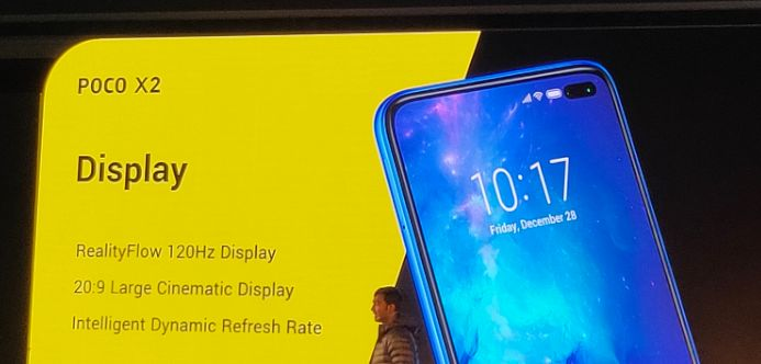 POCO X2 120 Hz display