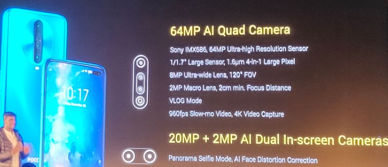 POCO X2 quad camera and dual punch hole camera