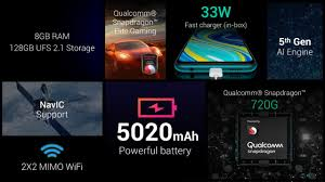 Redmi Note 9 PRO Max  5020 mAh battery with 33W charger