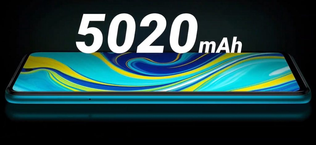 5020 mAh Battery of Xiaomi Redmi Note 9 PRO