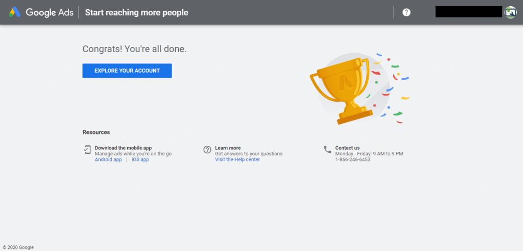 "Google Keyword Planner - ""Explore your Account"""
