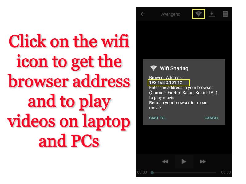 Screen sharing of MovieHD app